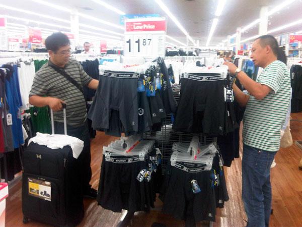 flatlock sportswear made by TEXCO at Walmart Store Miama, USA